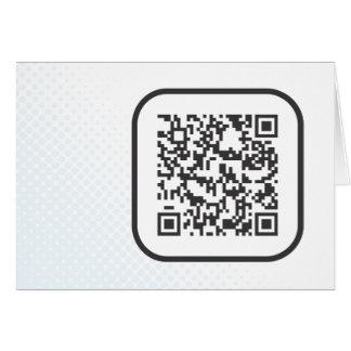 Scannable QR Bar code Note Card