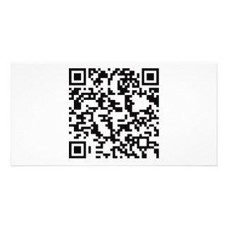 Scannable QR Bar code Custom Photo Card