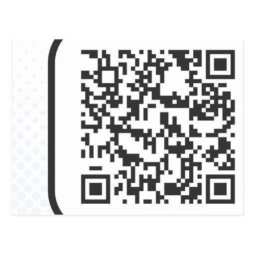 Scannable QR Bar code Postcard