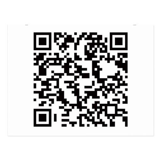 Scannable QR Bar code Postcards