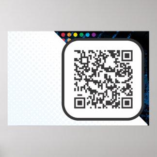 Scannable QR Bar code Poster