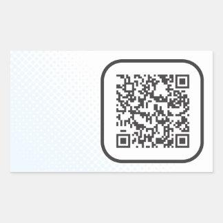 Scannable QR Bar code Rectangular Sticker