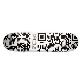 Scannable QR Bar code Skate Board Decks