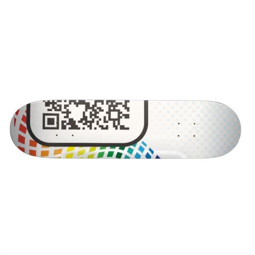 Scannable QR Bar code Skateboard
