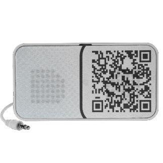 Scannable QR Bar code Travelling Speaker