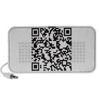 Scannable QR Bar code Speaker System