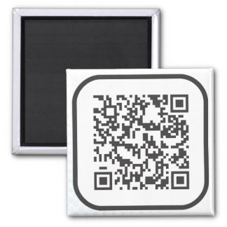 Scannable QR Bar code Square Magnet