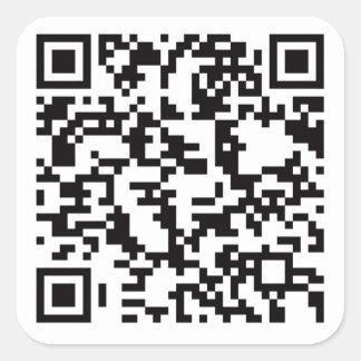 Scannable QR Bar code Square Sticker