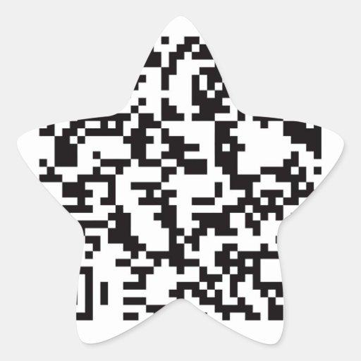 Scannable QR Bar code Star Sticker