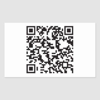 Scannable QR Bar code Rectangle Stickers