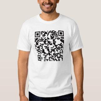 Scannable QR Bar code T-shirts