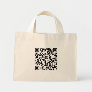 Scannable QR Bar code Mini Tote Bag