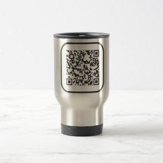 Scannable QR Bar code Travel Mug