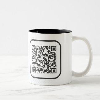 Scannable QR Bar code Two-Tone Mug