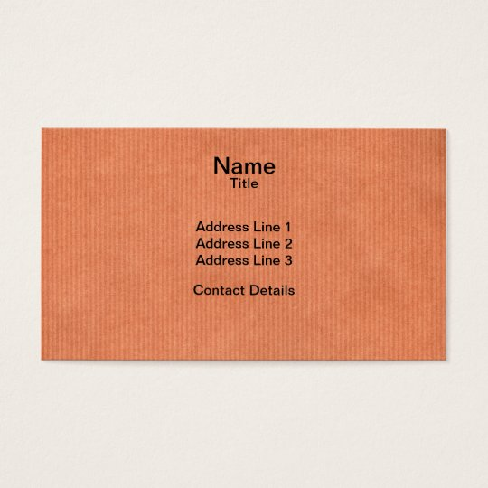 Scanned Detailed Kraft Paper Texture Peach Pink Business Card