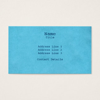 Scanned Detailed Kraft Paper Texture Sky Blue Business Card