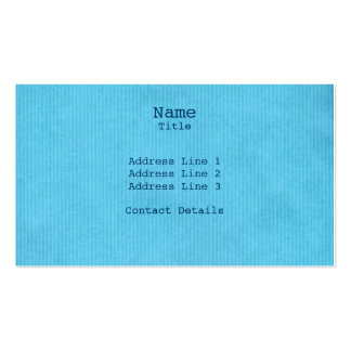 Scanned Detailed Kraft Paper Texture Sky Blue Pack Of Standard Business Cards