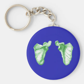 Scapula Green Basic Round Button Key Ring