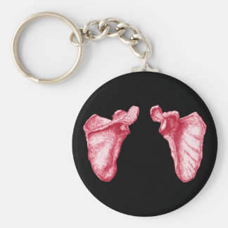 Scapula Red Basic Round Button Key Ring