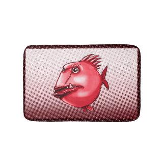 scar face ugly fish funny cartoon bath mat