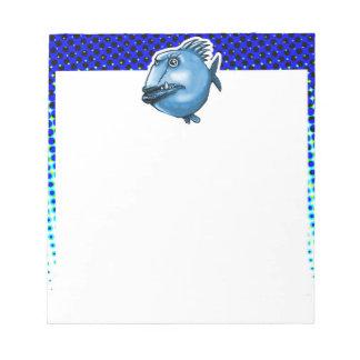 scar face ugly fish funny cartoon notepad