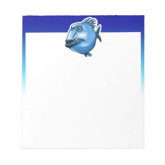 scar face ugly fish funny cartoon notepads