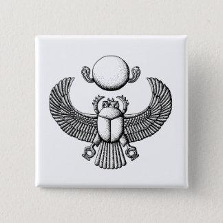 scarab 15 cm square badge