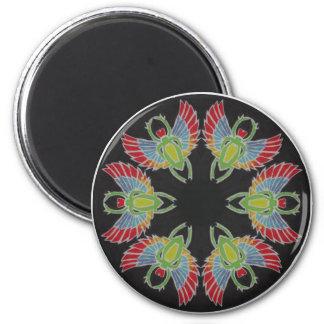 Scarab Batik Mandala Magnet