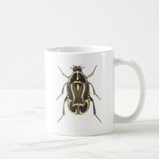 Scarab Beetle Classic White Coffee Mug