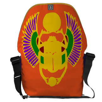scarab beetle Egyptian yoga bag-gold orange purple Commuter Bags
