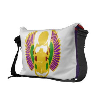 scarab beetle Egyptian yoga bag-gold white purple Messenger Bag