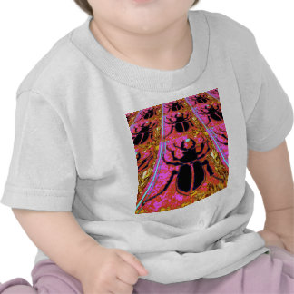 Scarab Beetle pink -Gold gifts by Sharles T-shirts