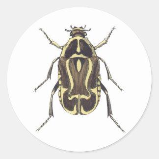 Scarab Beetle Round Sticker
