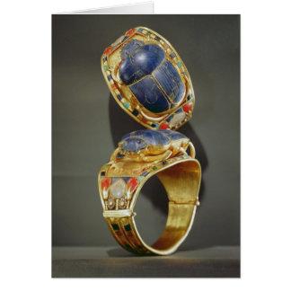 Scarab bracelet, from the Tomb of Tutankhamun Card
