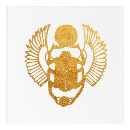 Scarab Egypt. Egyptian Winged Scarab Beetle. Acrylic Print