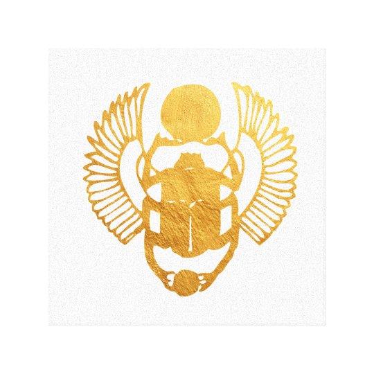 Scarab Egypt. Egyptian Winged Scarab Beetle. Canvas Print