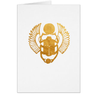Scarab Egypt. Egyptian Winged Scarab Beetle. Card