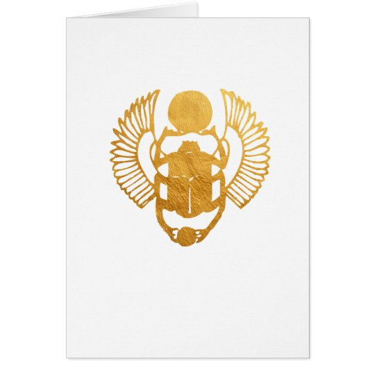 Scarab Egypt. Egyptian Winged Scarab Beetle. Card