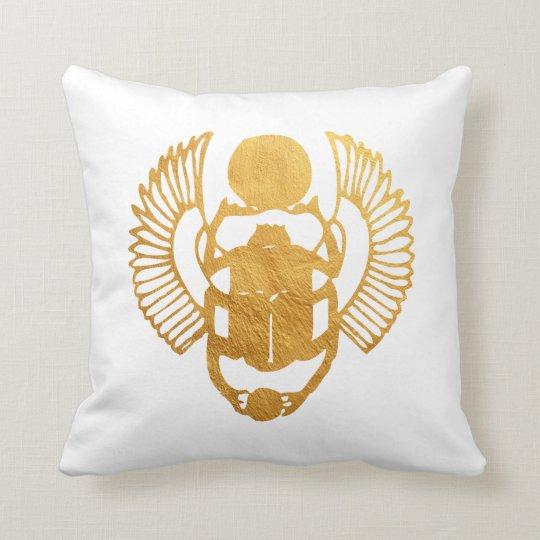 Scarab Egypt. Egyptian Winged Scarab Beetle. Cushion