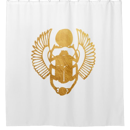 Scarab Egypt. Egyptian Winged Scarab Beetle. Shower Curtain