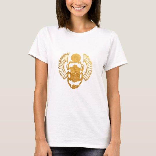 Scarab Egypt. Egyptian Winged Scarab Beetle. T-Shirt
