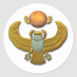 Scarab-gold Classic Round Sticker