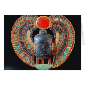 Scarab pectoral, from the tomb of Tutankhamun Card