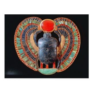 Scarab pectoral from the tomb of Tutankhamun Postcards