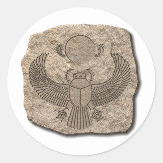 Scarab-stone Classic Round Sticker