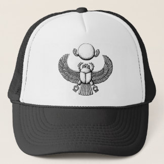 scarab trucker hat