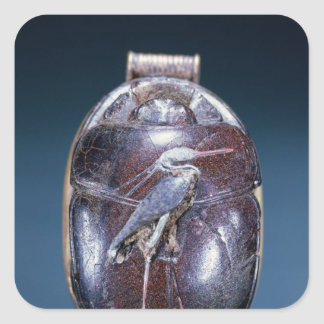 Scarab with Heron, from Tomb of Tutankhamun Square Sticker