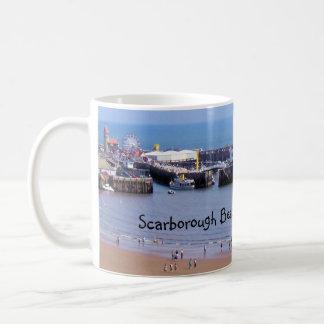Scarborough beach, England panorama mug