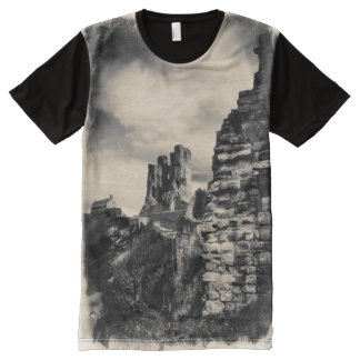 Scarborough Castle All-Over Print T-Shirt