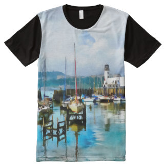 Scarborough Harbour All-Over Print T-Shirt